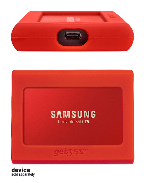 Silicone Bumper for Samsung SSD T5 - red