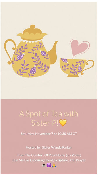 A Spot of Tea With Sister P flyer