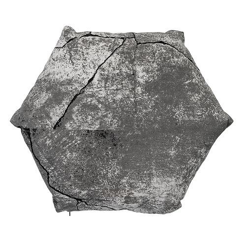 Coussin Héxagonal Gris
