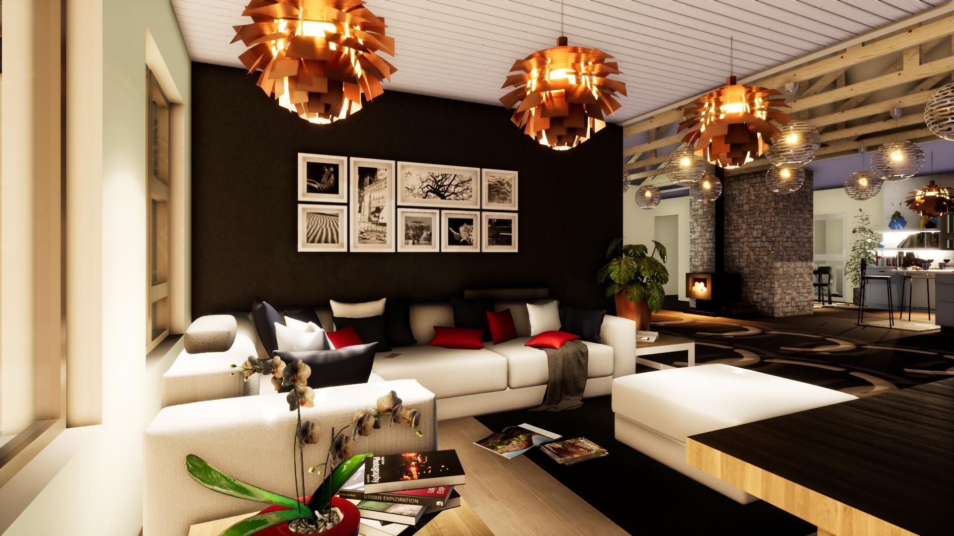 House Le Roux Living Area