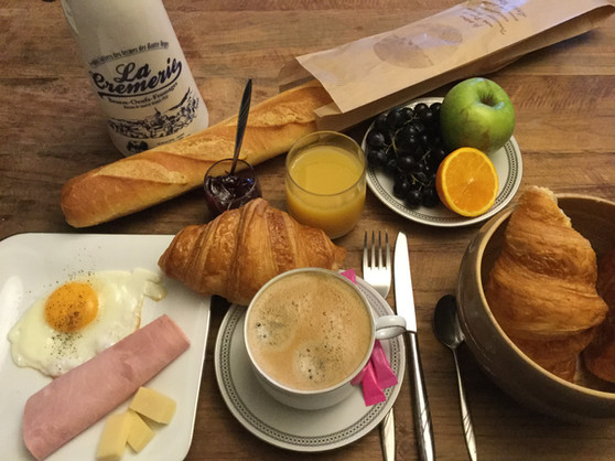 Auberge de Keranden Exemple de petit-déjeuner