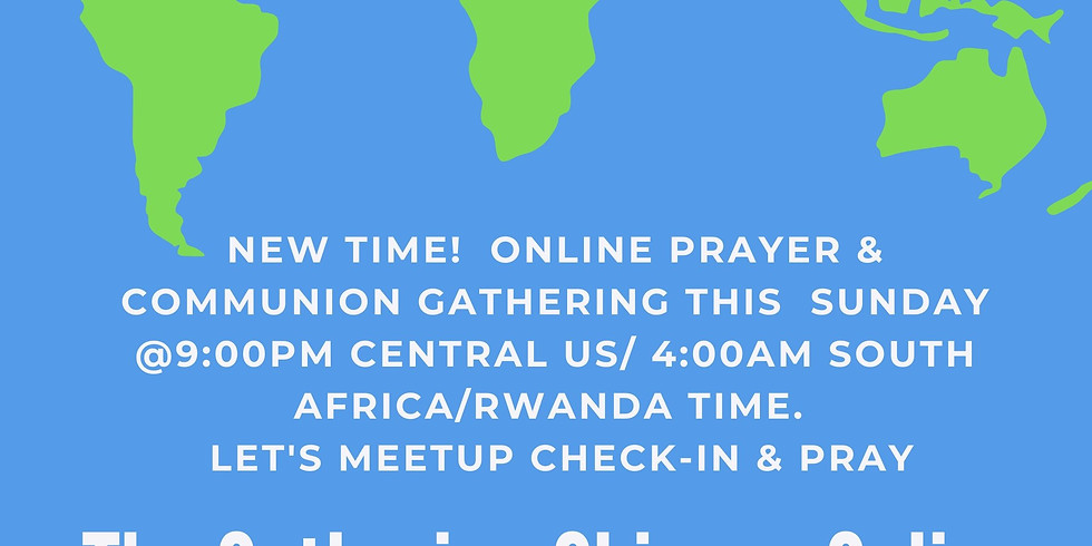 Online Communion Sunday Prayer Gathering