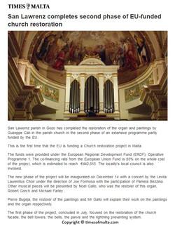 St-Lawrence organ - Times of Malta