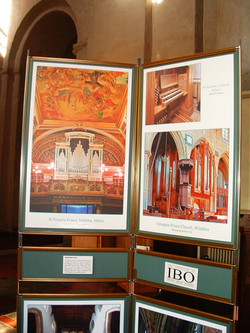St.Francis, Valletta organ exhibit at the St.Albans Organ Festival