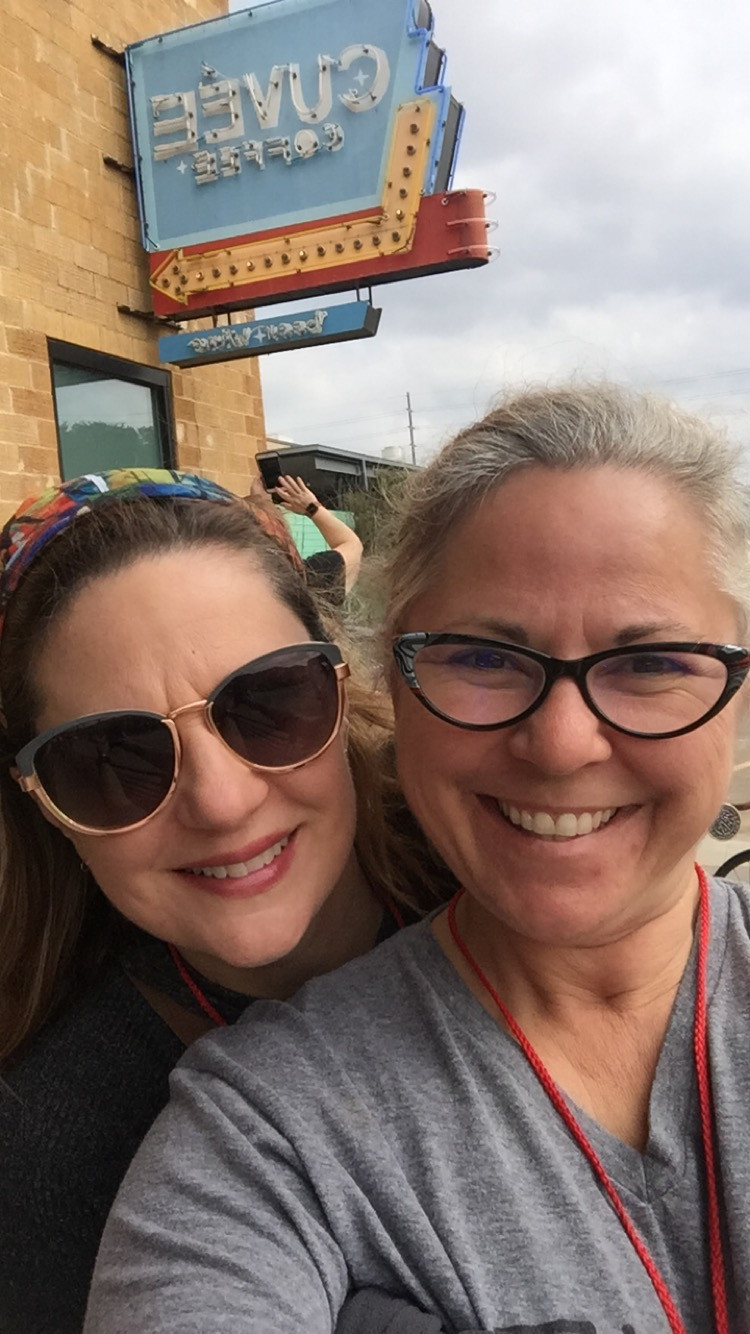 Michele and Tiffany touring the food scene in Austin