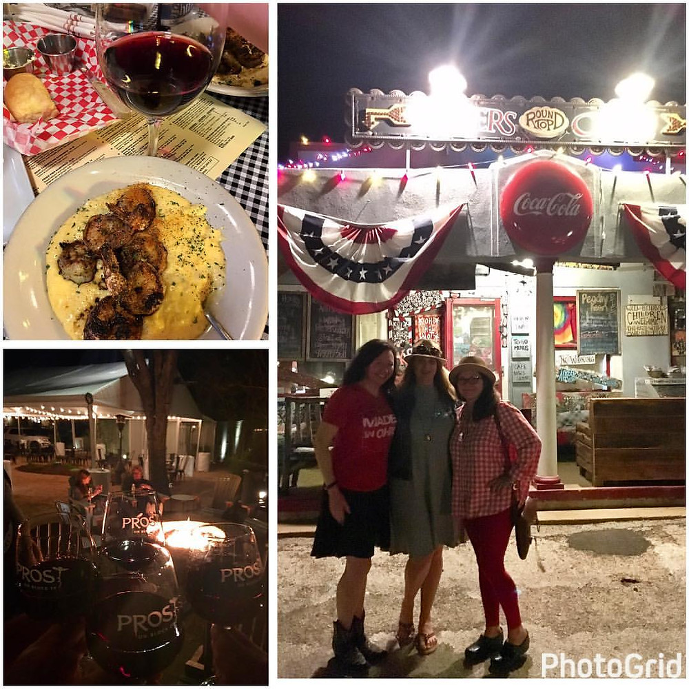Gadabout Gals at Royer's Round Top Cafe:  A Texan Trip to Visit Tiff