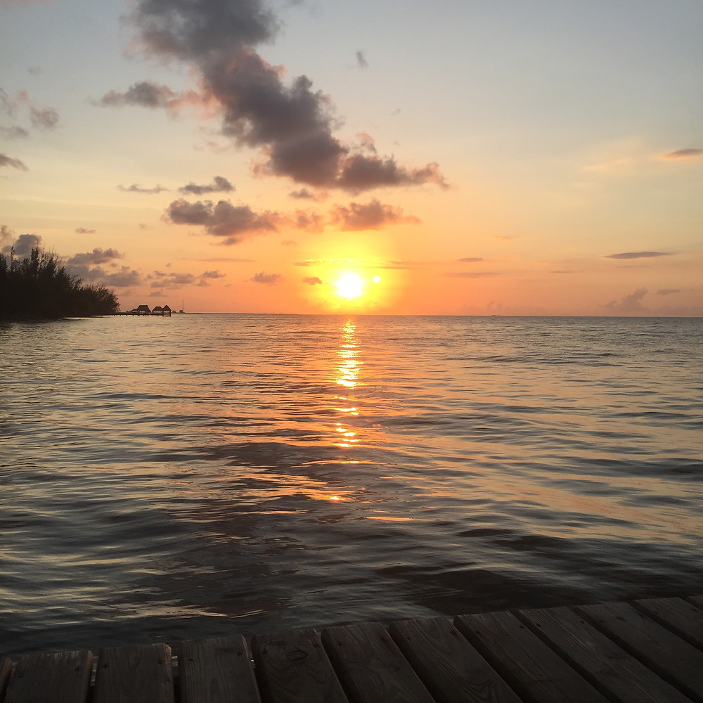 Gadabout Gals awaken to breathtaking sunrises every morning in Belize