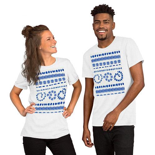 Sereane Tie Dye Short-Sleeve Unisex T-Shirt