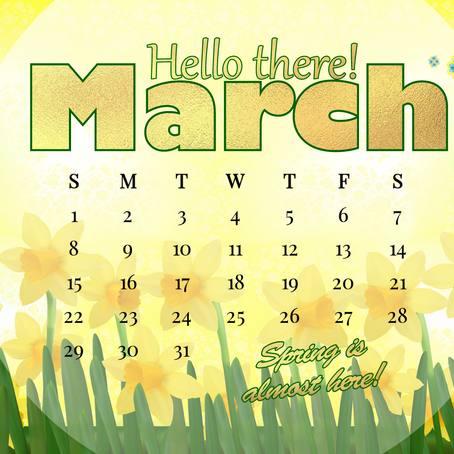 We ❤ March, cause Spring is almost here!