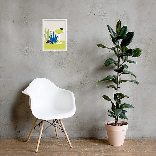 Prickly Pear Cactus Margarita Framed poster