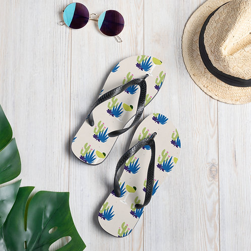 Prickly Pear Cactus Margarita Flip-Flops