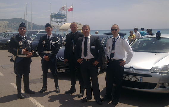 Police Cannes chauffeur driver sightseeing limousine Monaco airport Lions Mipim Mipcom Film festival