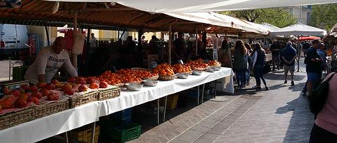 Nice open market south france