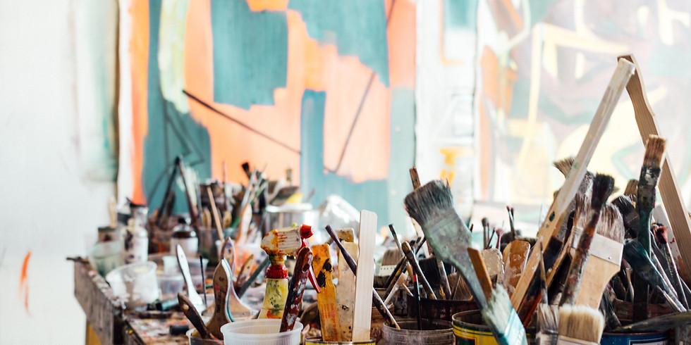 Acrylschilderen en mix media met Leentje Bondroit  (2)