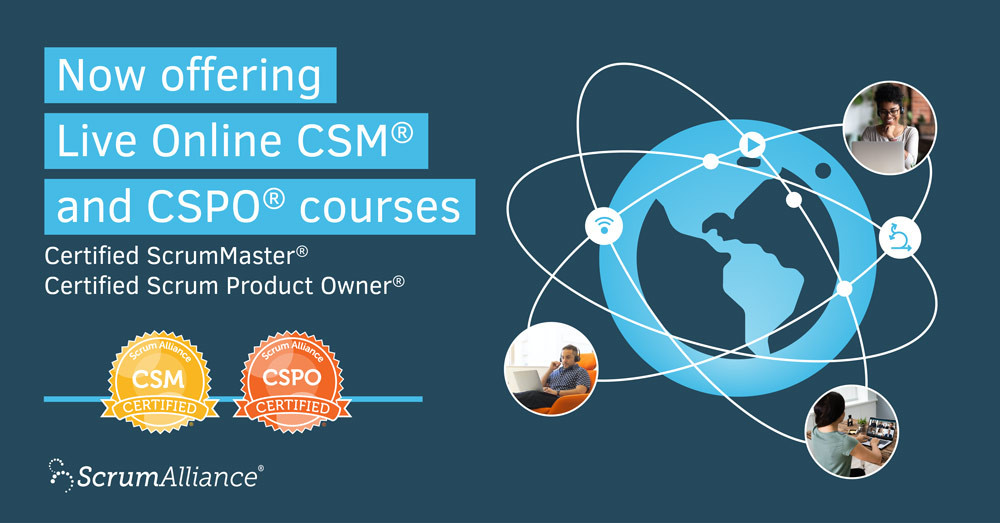 Live Online CSM and CSPO certification courses