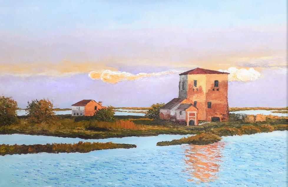 Antonio Simoncin - La Torre Rossa, Saline di Comacchio