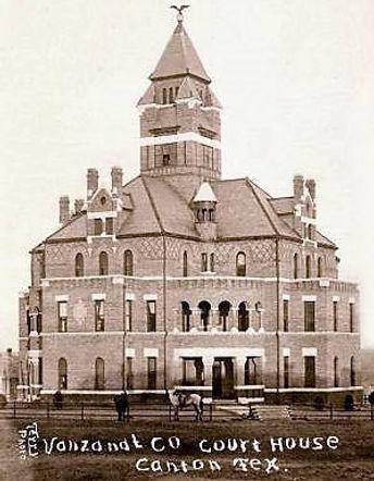 Court house red brick Van_Zandt_County_T
