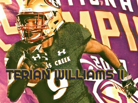 """TERIAN WILLIAMS 2022 PLAYMAKER, BIG LSU TARGET: """"I WOULD EARN THE RIGHT TO WEAR #7"""""""