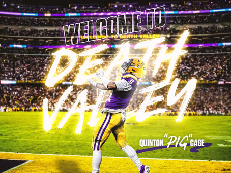 """QUINTON """"PIG"""" CAGE JOINS LSU AS A NICKEL DB"""