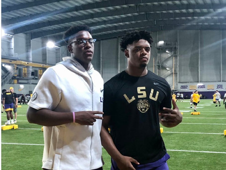 THE BOYS ARE BACK IN TOWN (PART II): LSU'S 2022 WEEKEND VISITS CONTINUE: OL/DL CAMP & MORE