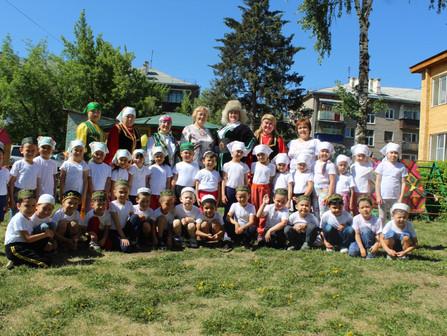 Детский сабантуй в Башкирском детском саду