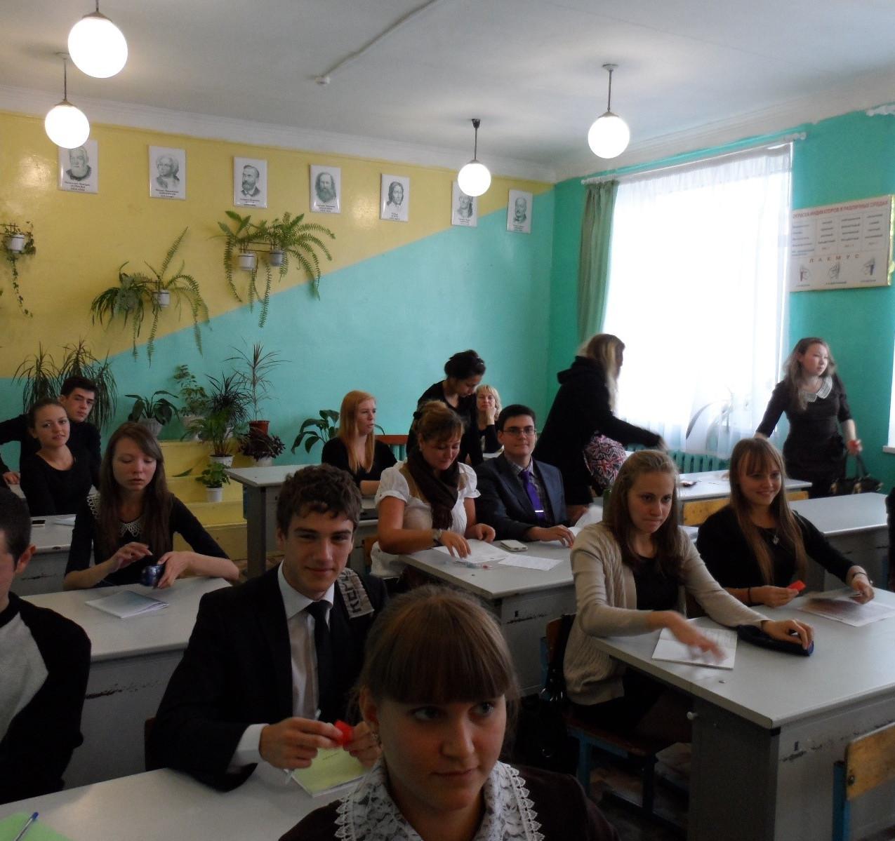 Тестирование старшеклассников на Дне фин