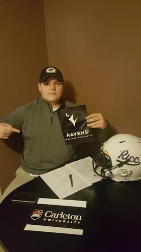 2018 Ryan Gatchell signs with Carleton U