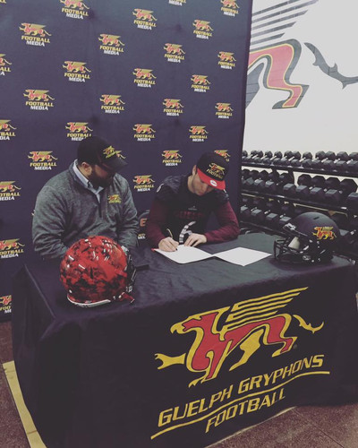 2017 Kyle Lavergne signing with Guelph U