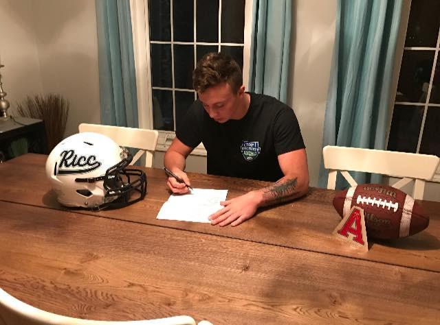 2017 Mason Brown signing with Acadia Uni