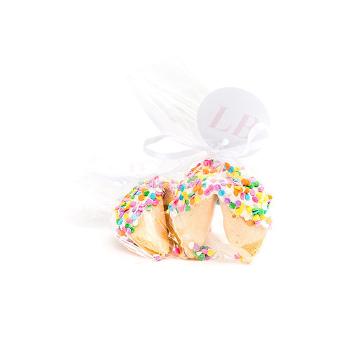 25 Easter Confetti Wrapped Fortune Cookies