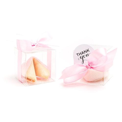 25 Pastel Pink Sugar Boxed Fortune Cookies