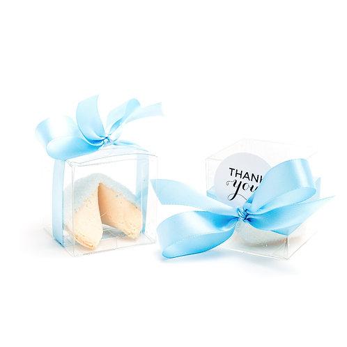 25 Pastel Blue Sugar Boxed Fortune Cookies
