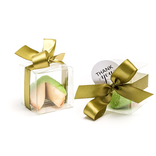 25 Lime Green Sugar Boxed Fortune Cookies
