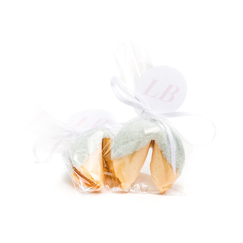 25 Pastel Blue Sugar Wrapped Fortune Cookies