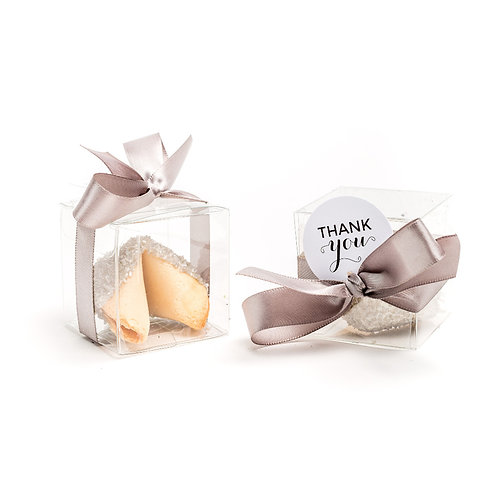 25 Silver Sugar Boxed Fortune Cookies