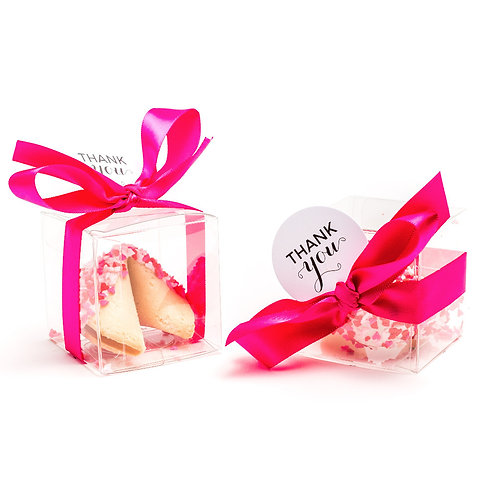 25 Valentine's Day Heart Sprinkles Boxed Fortune Cookies
