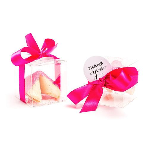 25 Pink Dark Sugar Boxed Fortune Cookies