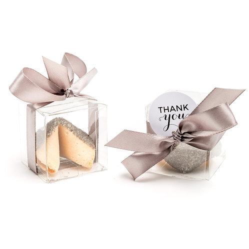 25 Grey Dark Sugar Boxed Fortune Cookies