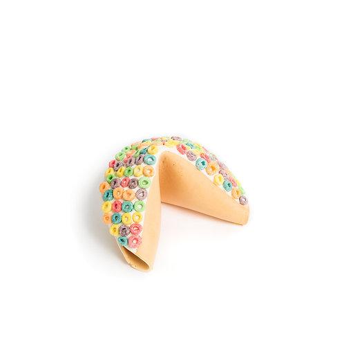 Medium Fruit Loops Covered Fortune Cookie