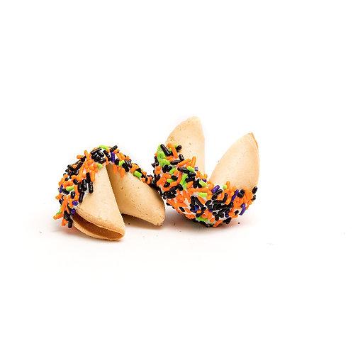 25 Halloween Long Sprinkles Bulk Fortune Cookies