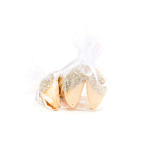 25 Silver Sugar Wrapped Fortune Cookies