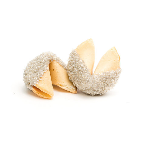 25 Silver Sugar Bulk Fortune Cookies