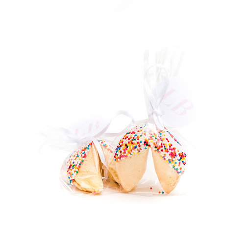 25 Mixed Sprinkles Wrapped Fortune Cookies