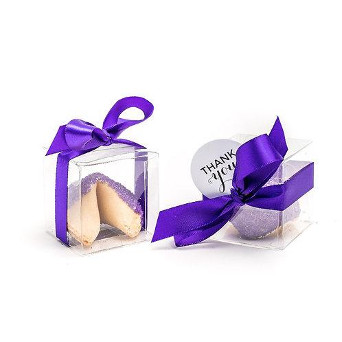 25 Purple Sugar Boxed Fortune Cookies