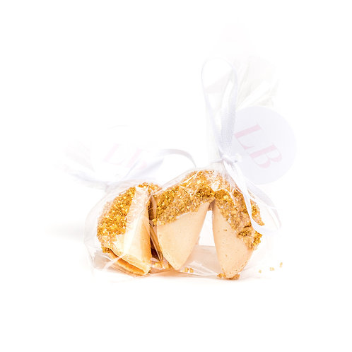 25 Gold Sugar Wrapped Fortune Cookies