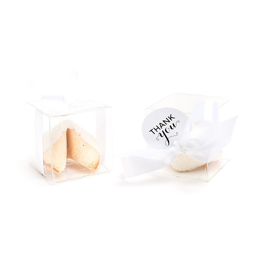 25 White Sugar Boxed Fortune Cookies