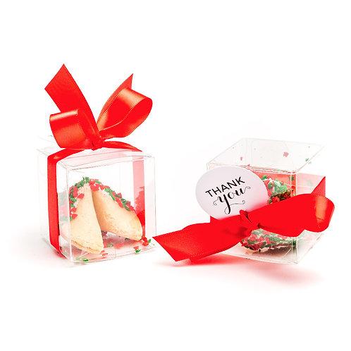 25 Christmas Tree Sprinkles Boxed Fortune Cookies