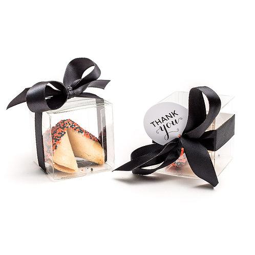 25 Halloween Round Sprinkles Boxed Fortune Cookies