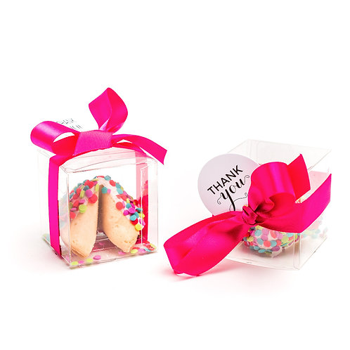 25 Neon Confetti Boxed Fortune Cookies