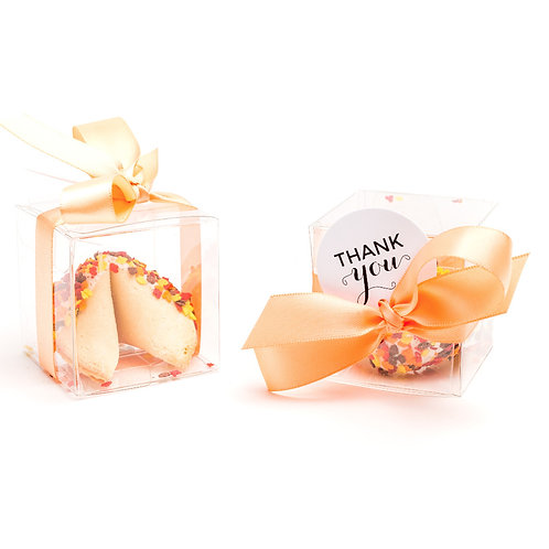 25 Thanksgiving Leaf Sprinkles Boxed Fortune Cookies